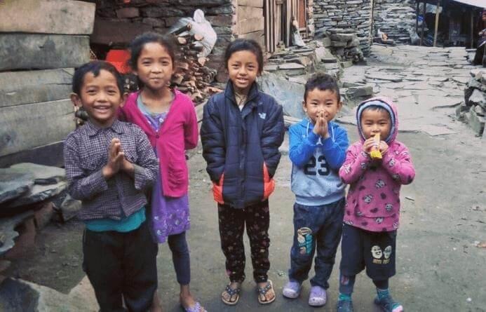 Kids In Manaslu Circuit