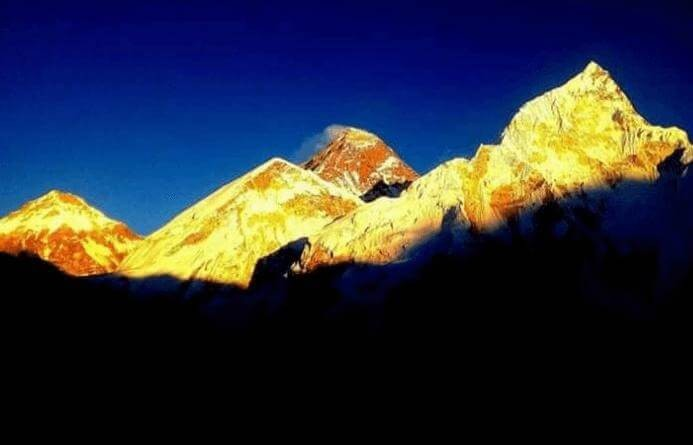 Sunrise at Mt. Everest
