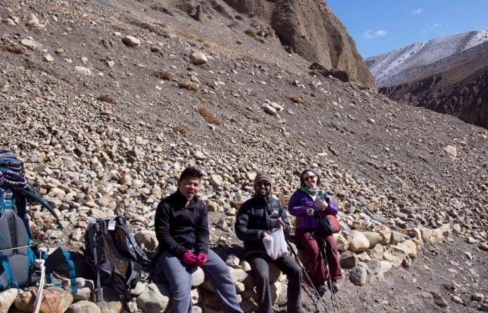 Rest at Upper Mustang Trek