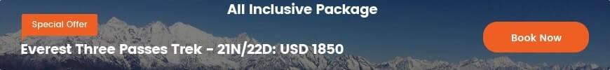 Special Offer- Everest Three Passes Trek