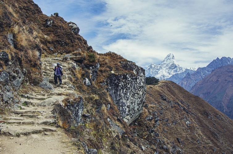 Way back from Everest Base Camp