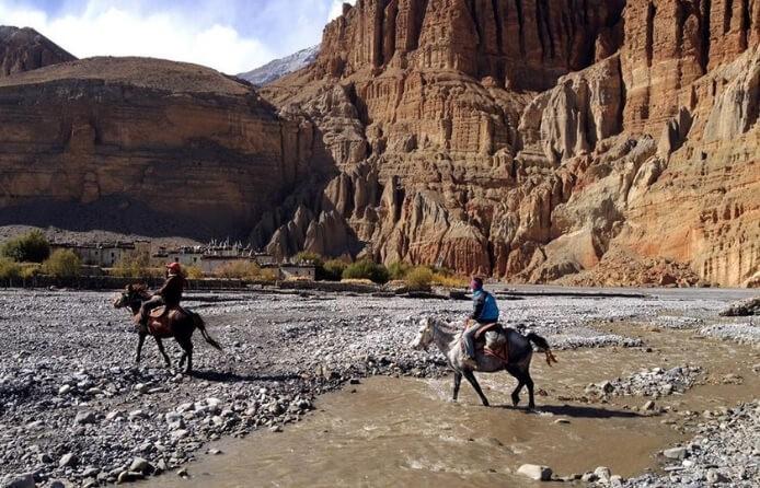 Mule carrying people
